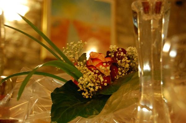 Allestimento per cena romantica