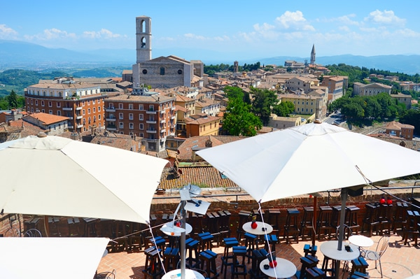Perugia, terrazza della città